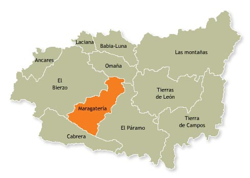 Ubicación de la comarca de Margatería